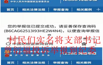重庆丰都:被三十多村民举报的曾衍福居然连任铺子村支书谁之责?