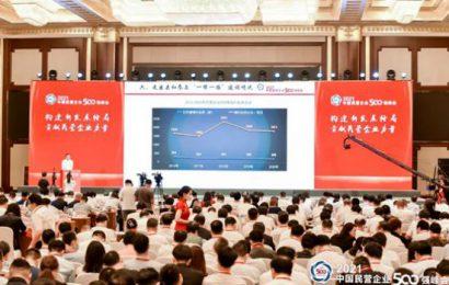 绿之韵集团董事长胡国安受邀参加2021中国民营企业500强峰会