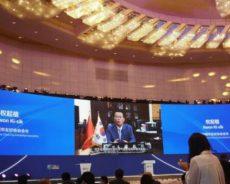韩中城市友好协会会长权起植发表中国山西省国际论坛视频贺词