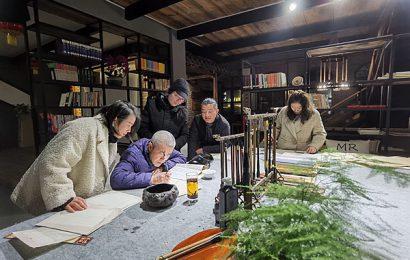 """涪陵区文联""""书法公益大讲堂""""2020年最后一课在涪州书院举行"""